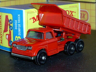 Matchbox Lesney Dodge Kew Dumper Truck 48 c1 full base SC1 VNM & crafted box