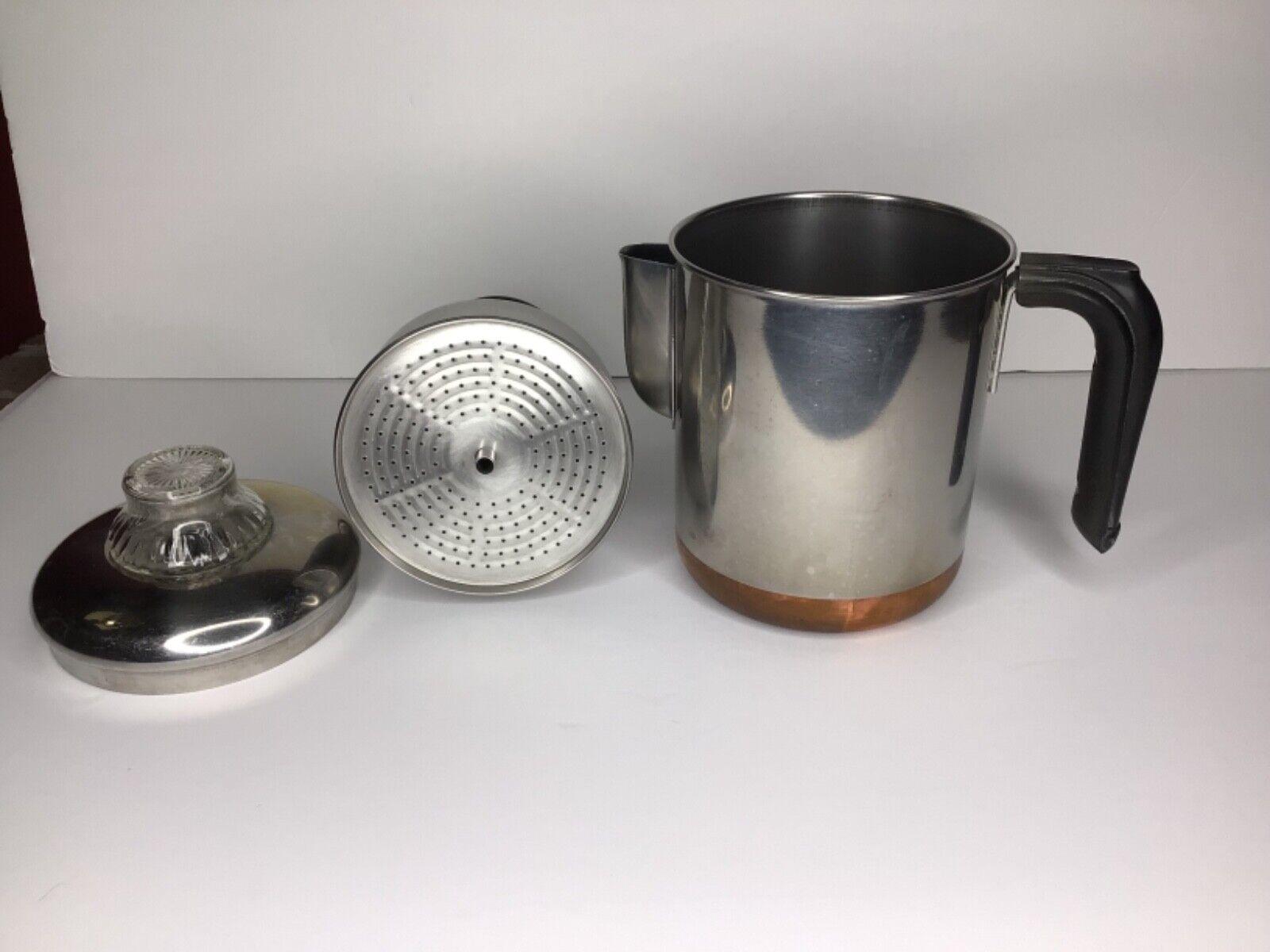 Complete REVERE WARE Coffee Pot 6 Cup Percolator Stove Top C