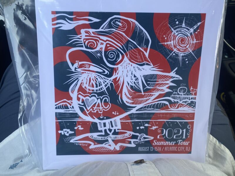 """PHISH Atlantic City 2021 Summer Tour Print - """"WookGull"""" 9""""x9"""" LIMITED Numbered."""