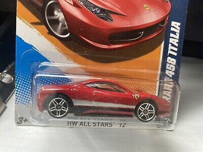 HOT WHEELS VHTF FERRARI 458 ITALIA ERROR ALL SMALL WHEELS
