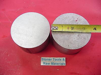 2 Pieces 3-12 Aluminum 6061 Round Rod 3 Long T6 Lathe Bar Stock 3.5 Diameter