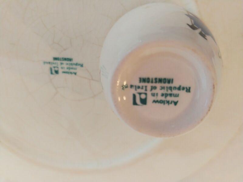 Vintage Arklow nursery rhyme plate and cup