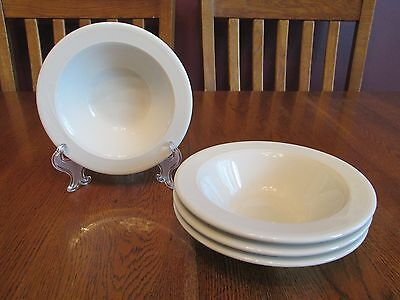 Four Excellent Homer Laughlin China Lyrica Rimmed Bowls Restaurant Ware
