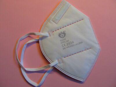 20 x FFP2 Masken weiß Mundschutz 5 Lagen CE Prüfstelle 2834 zertifiziert Neu