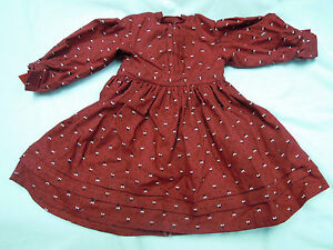 New American Girl - [Pleasant Company]  Kirsten's School Dress with Shawl ~ RARE