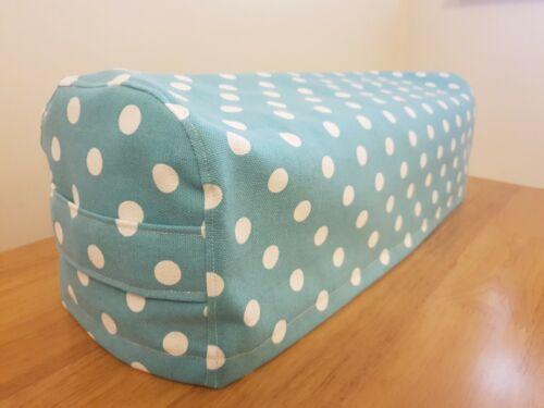 Cricut Maker Dust Cover Aqua Polka Dots Cotton Canvas with side handles