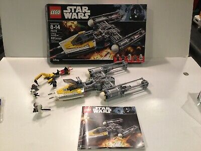 Lego Star Wars Y Wing Starfighter 75172 100% Complete W/ Minifigures Box & Instr
