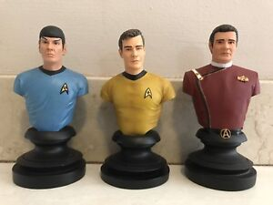 STAR TREK ICONS CAPTAIN KIRK & SPOCK BUSTS STATUE FIGURES