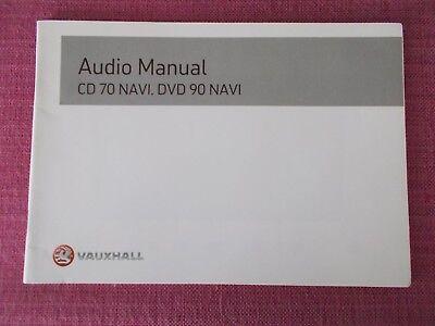 VAUXHALL CD 70 NAVI & DVD 90 NAVI SAT NAV NAVIGATION HANDBOOK VECTRA (ACQ 6592)