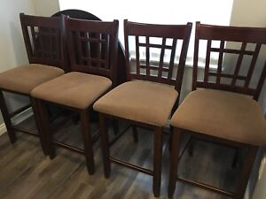 Brown wooden Counter height kitchen chairs