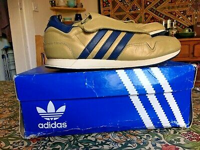 Adidas Lake Placid 80 Gold Navy Winter Olympics UK Size 9 Leather (2002)
