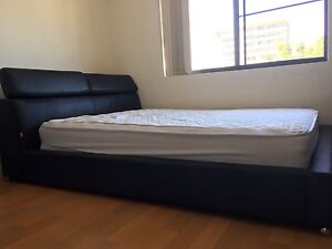 Genuine leather bed frame queen size Taringa Brisbane South West Preview