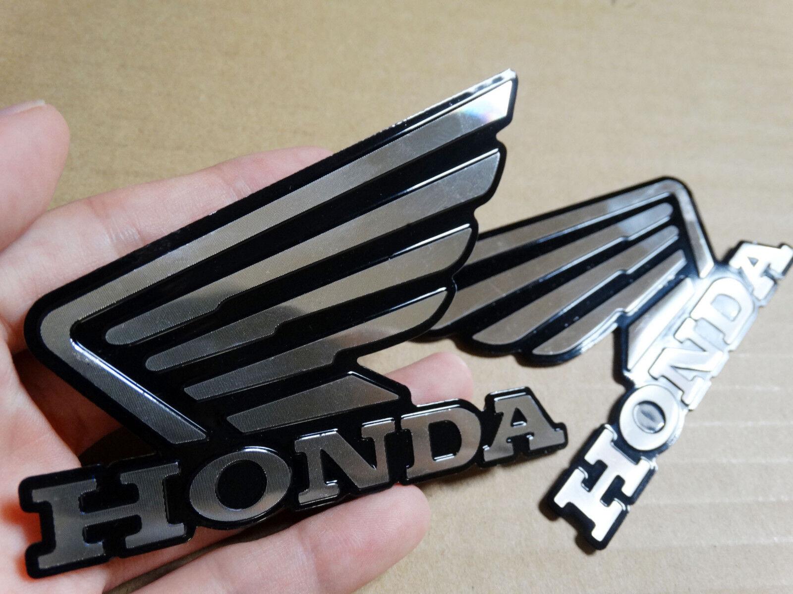 Motorcycles 3D Raise Tank Emblems Decal for Honda Wing Hornet CB600 MT Pair