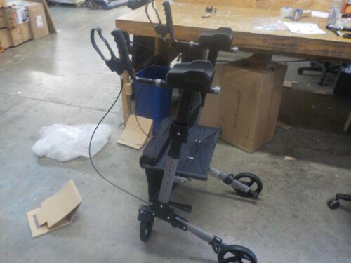 Silenflow Upright Walker - Stand Up Folding Rollator Walker with Padded Armrests