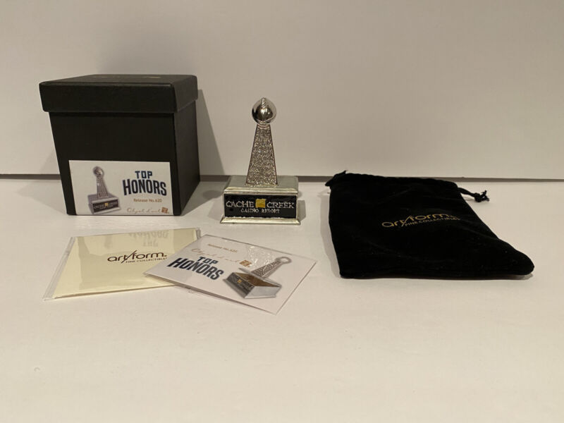 Objet d'Art Top Honors Trinket Box #620 Cache Creek Casino Resort Trinket Box!
