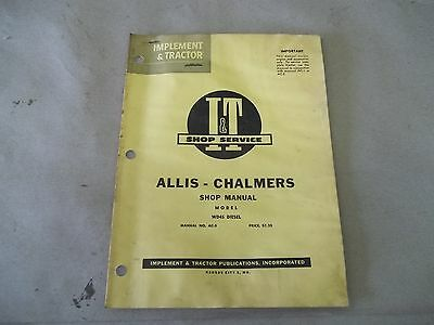 Allis Chalmers Wd 45 Diesel I T Shop Service Manual Manual No. Ac-5