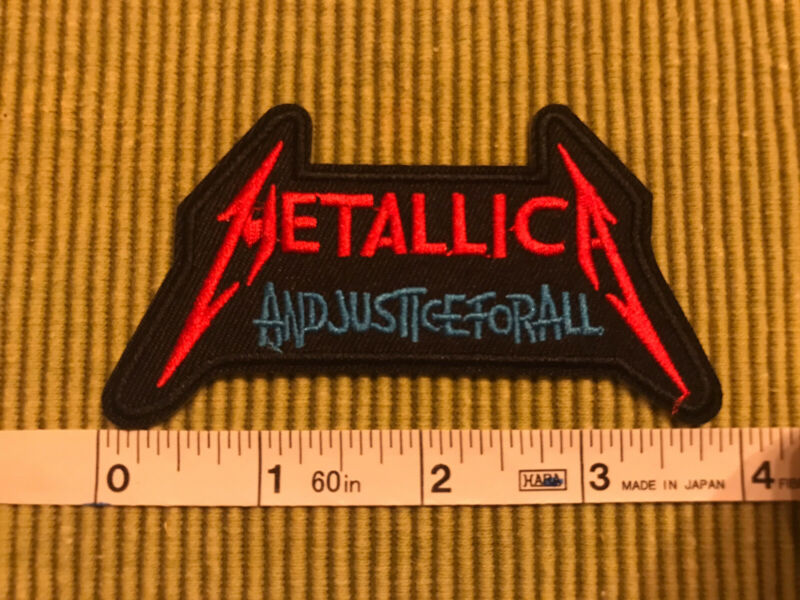 Metallica Embroidered Iron/sew on Patch New Free Shipping In The USA