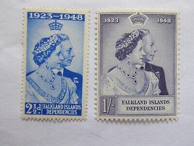 Falkland Is Dep 1948 Silver wedding set m/mint