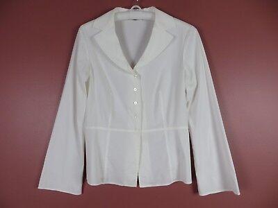 Lafayette Baumwolle Bluse (Tb04674- Lafayette 148 Ny Damen 72% Baumwolle Leicht Bluse Nicht-Gerade Weiss)