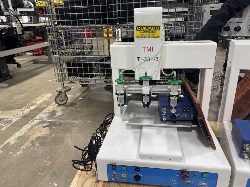 Trimech TMI TI-331-3 Robotic 3-Head Fluid Dispenser Dispensing System