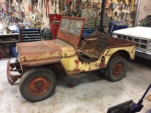 Running 1947 Willys jeep