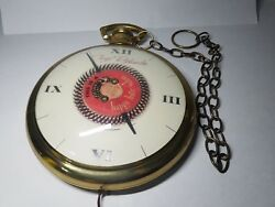 Caryl Richards Pocket Watch Hanging Clock Rotating Spinning Happy Hair Salon