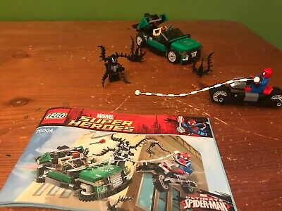(All Pieces) LEGO Marvel Super Heroes: Spider-Man Spider-Cycle Chase (76004)