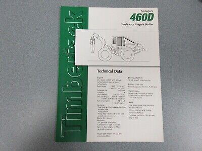 Timberjack 460d Grapple Skidder Sales Brochure 6 Pages
