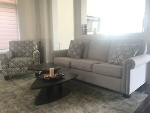 Beautiful Ashley's Sofa with Patterned Chair