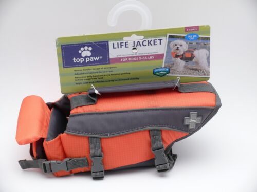 """TOP PAW Reflective Dog Life Jacket X-Small Unisex 5-15Lbs 11-15"""" NEW WITH TAGS!"""