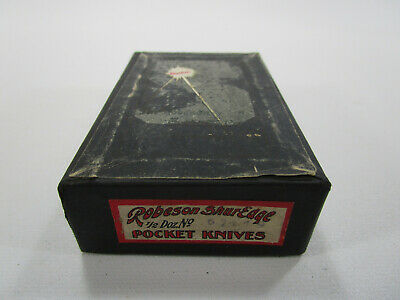Vintage ROBESON Cutlery Shuredge Pocket Knife Shipping store Box Rochester NY