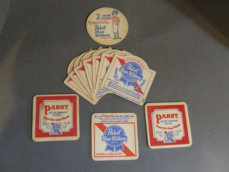LOT OF 10 PABST BLUE RIBBON BEER CARDBOARD COASTER