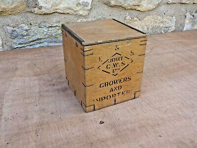 Vintage original small wooden TEA box with sliding lid 1lb nett weight.