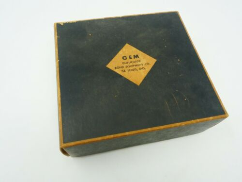 Vintage Bond Equipment Co. Gem Duplicator Never Used. Very COOL! SEE PICS!