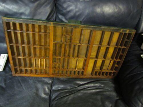 Antique Wooden Hamilton Printers Tray Keystone Handle