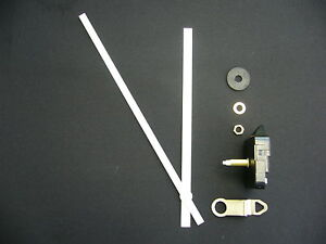 High Torque Clock Movement Extra Long Spindle 200mm White