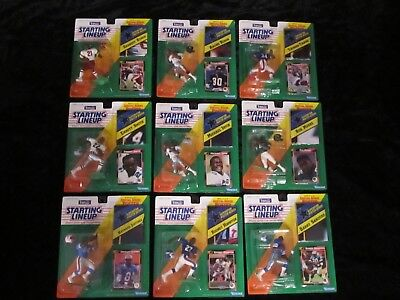 1992 NFL KENNER STARTING LINEUP OFFENSE PLAYERS LOT (LOT OF 9) VGC (NIP)