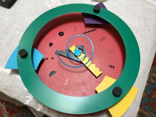 Canetti Wall Clock Memphis Shohei Mihara Modern Pop 3D Wakita Japan 1980