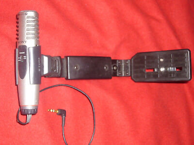 Sony Stereo External Directional Amplified Powerered Microphone + Camera Grip - External Stereo Amplifier