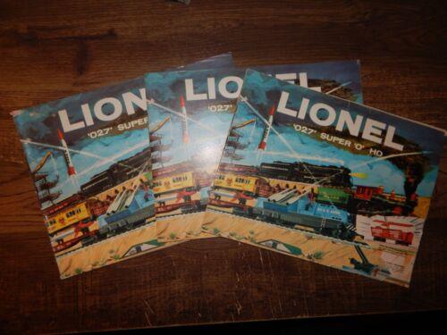 Lionel catalogs lot of 3 1959 O gauge