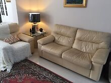 Moran Como 3 piece leather lounge suite vgc Ardross Melville Area Preview