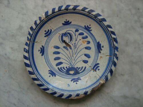nice 17th  century majolica delftware tulip /dish /plate