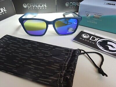 Dragon Baile Matte Deep Navy Blue Ion Polarized Sunglasses NIB 2019