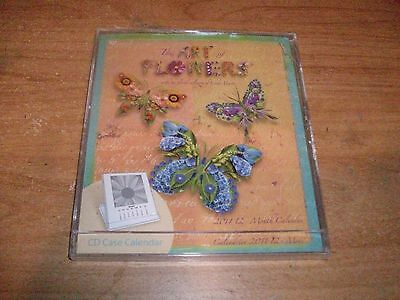 The Art of Flowers CD Case 2011 Calendar Collages of Linda Maron 12 Month NEW (Studio 18 Calendars)