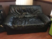 black leather 2 seater lounge $100 Champion Lakes Armadale Area Preview