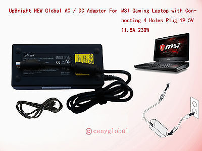 "230w Ac Adapter For Msi Gt83vr Gt73vr Pro Titan 18.4"" Gam..."