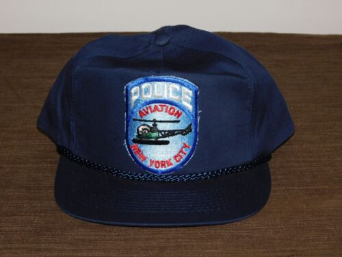 POLICE BASEBALL CAP HAT NEW YORK CITY POLICE AVIATION NYPD NEW UNUSED