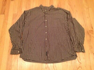Abercrombie & Fitch Mens Green Plaid Long Sleeve Button Down Shirt Size XL