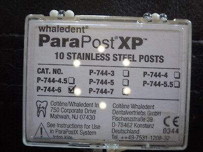 Coltene Whaledent P744-6 Parapost Xp Stainless Steel P744-6 10pk
