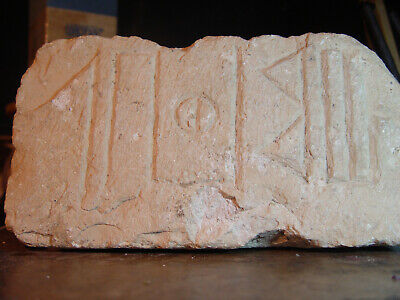 3 NEW PHOTOS OF OLDEST ALPHABET - ON 3000 YEAR OLD TEMPLE OF SHEBA WALL BRICK